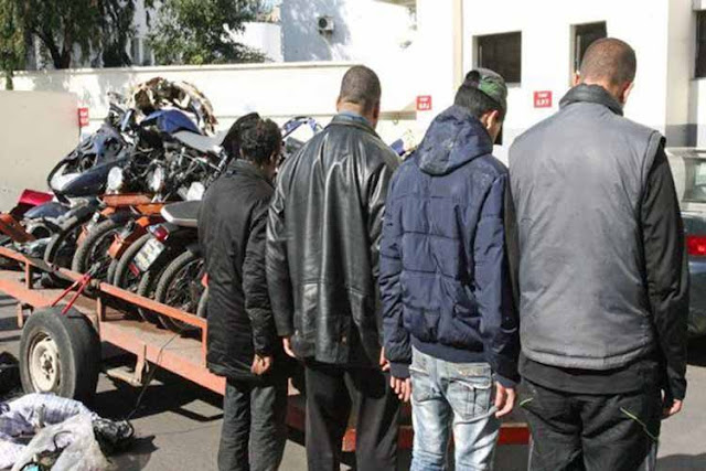 المهدية - ايقاف عصابة مختصة في سرقة الدراجات النارية