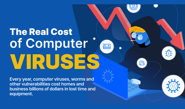 The cost of a computer virus