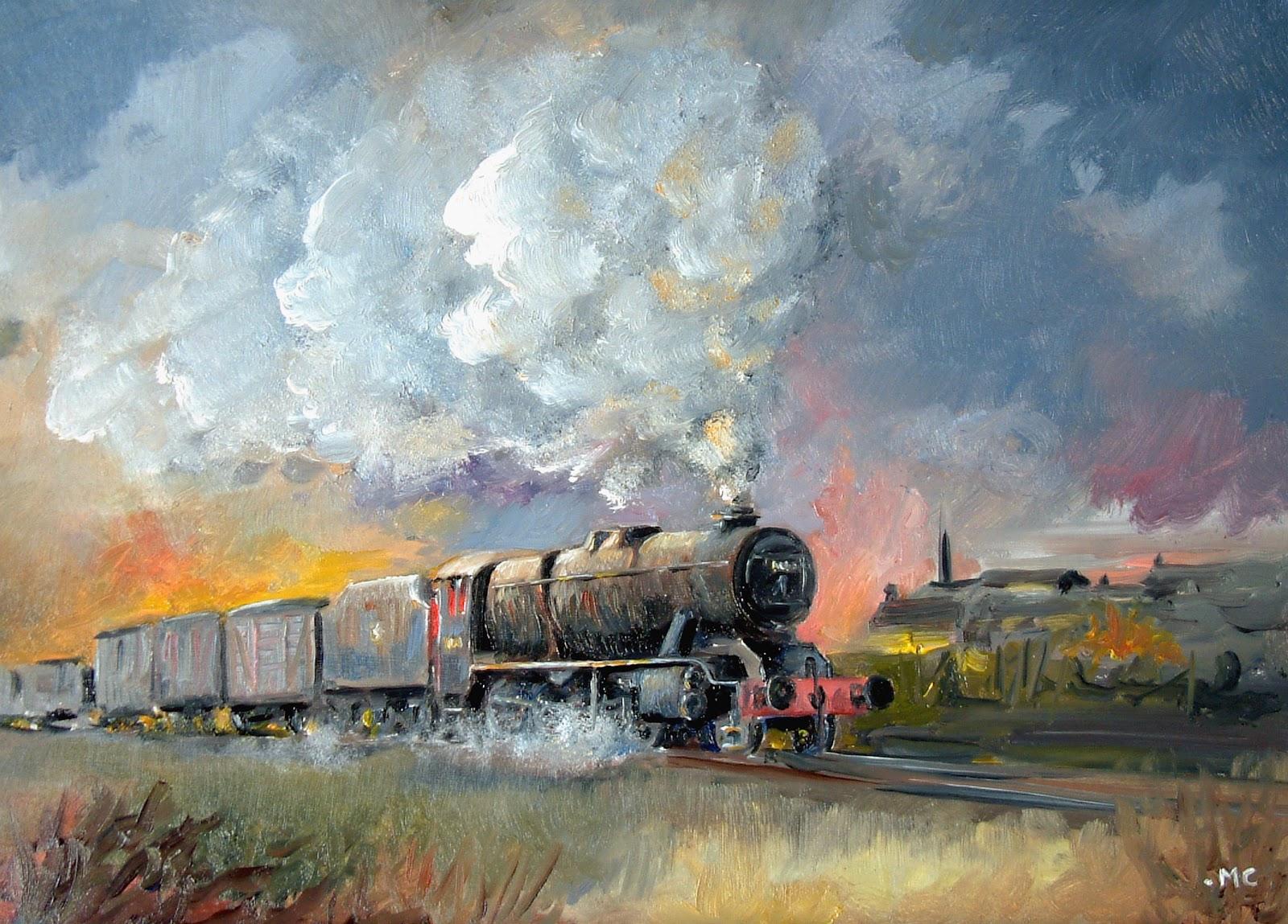 Carmarthen Artist: Last Steam Train