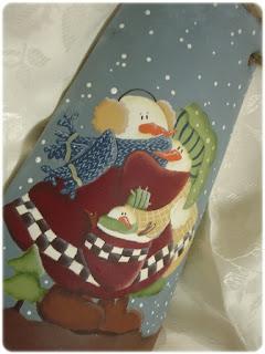 Targa natalizia con pupazzi di neve