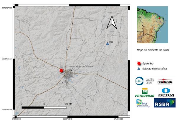 Tremor de terra é registrado no município de Caraúbas