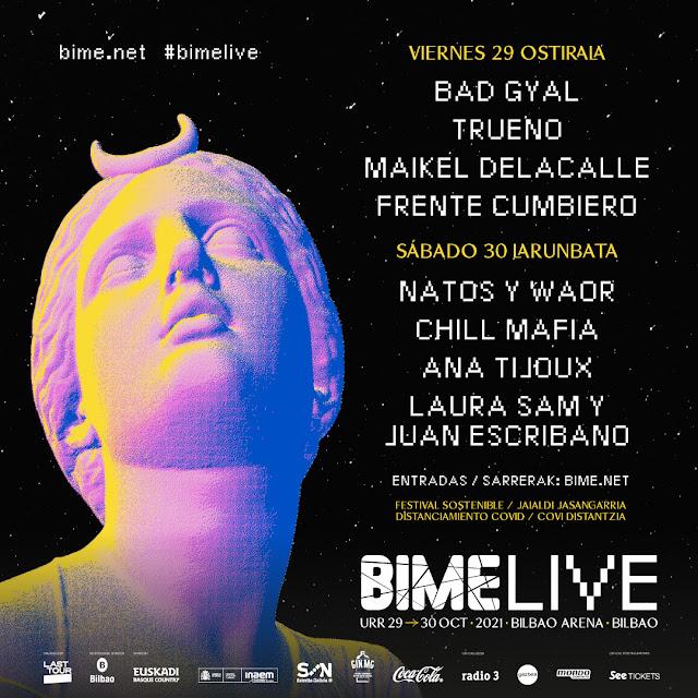 bime, live, cartel, bilbao, otoño, festival, 2021