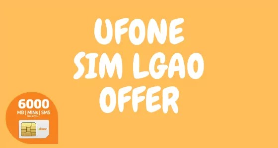 Ufone Sim Lagao Offer | Get 6000 Mints, SMS and MB from | SLO offer Code