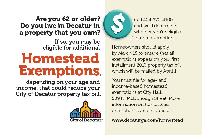 Decatur Tax Blog: City promotes homestead exemptions