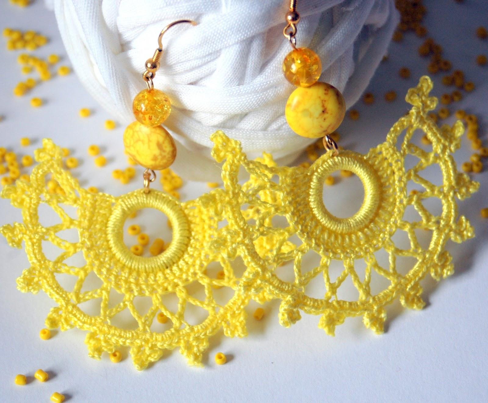 LINDAPAULA: Pendientes de ganchillo/crochet. Colección abanico.