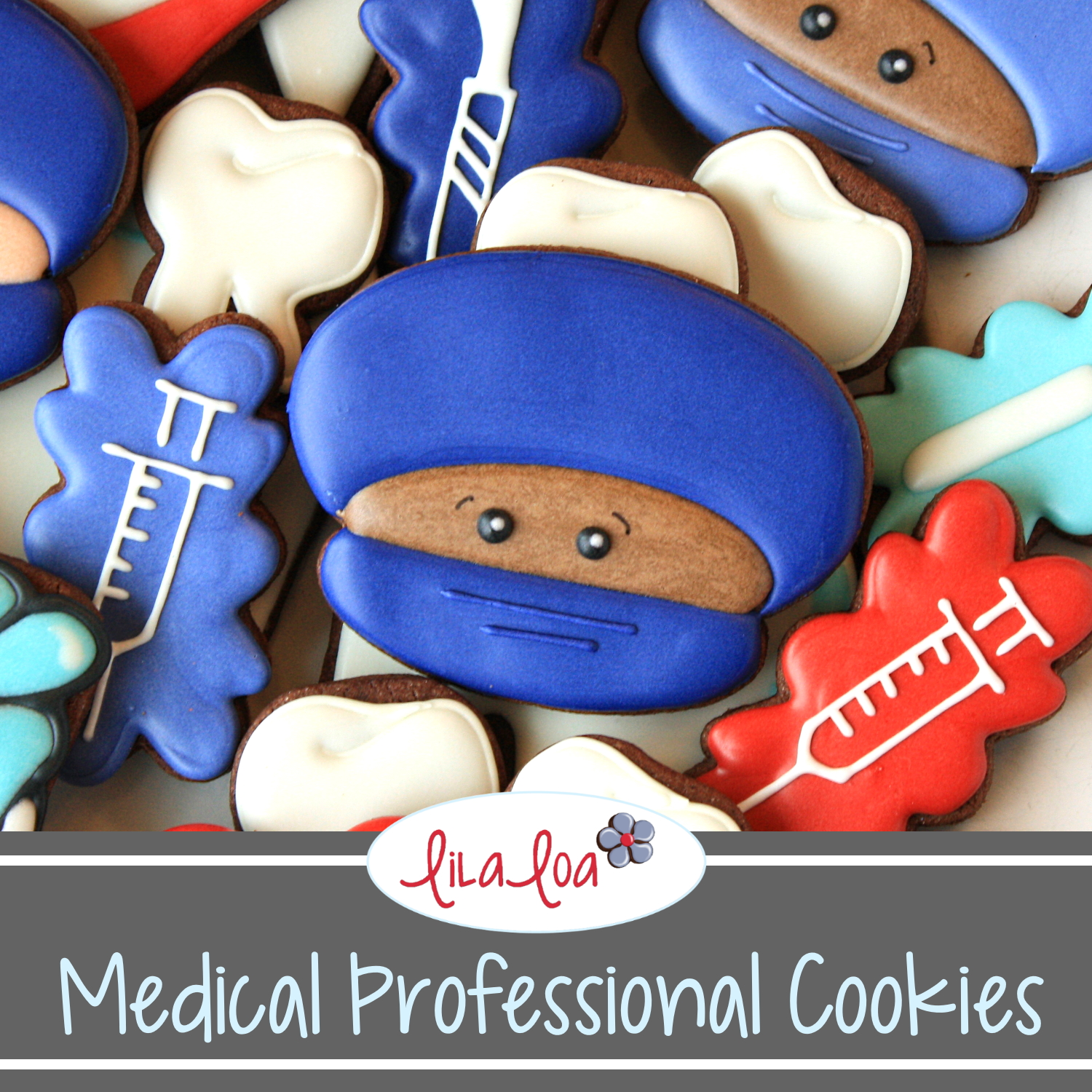 nurse or doctor decorated cookie tutorial