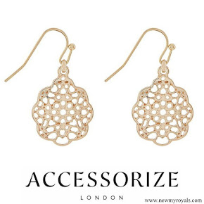 Kate Middleton wore Accessorize Filigree Gold Earrings