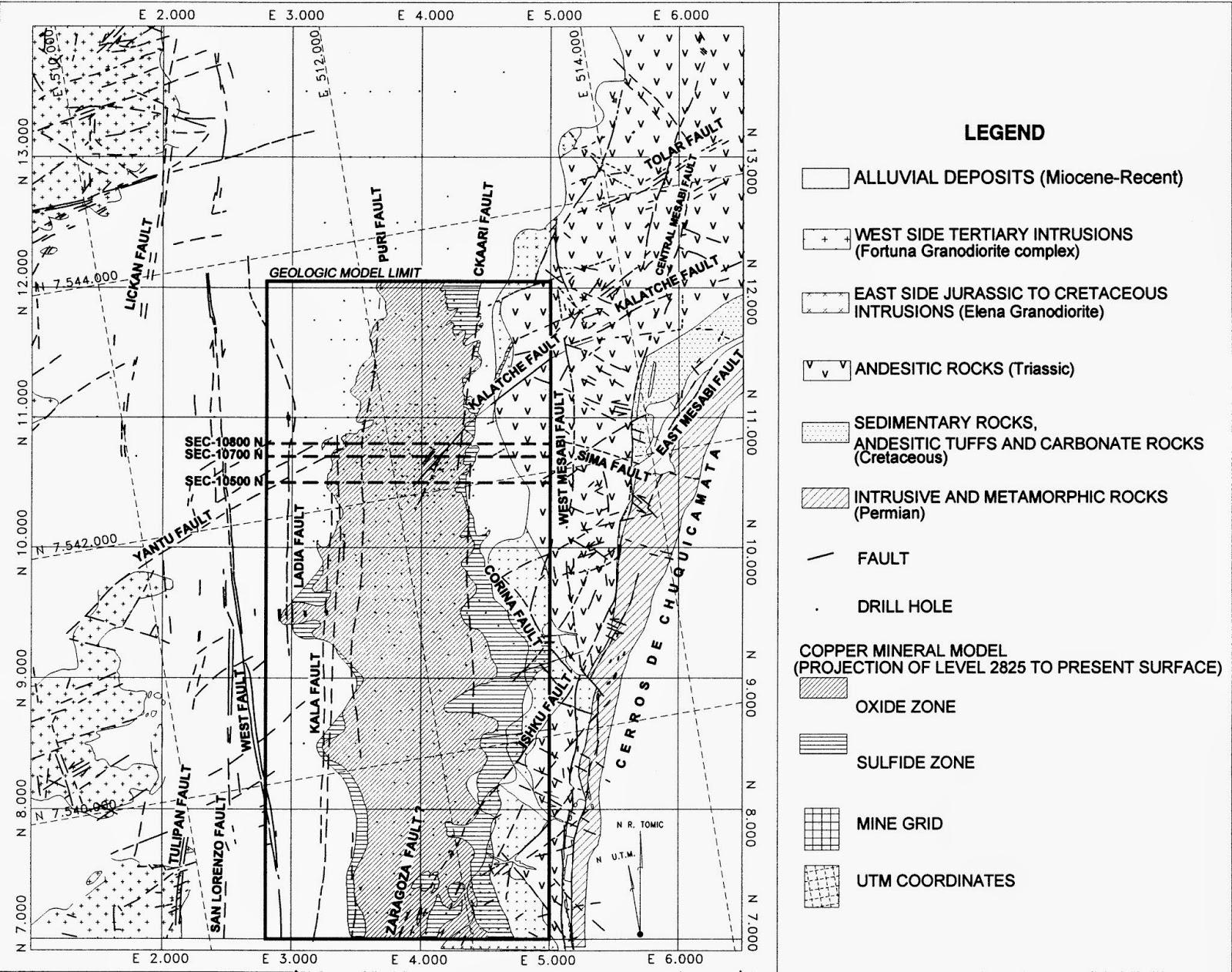 Radomiro Tomic Copper Mine Mining Geology