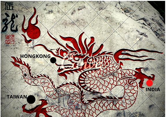 China's increasing influence Hongkong,Taiwan,India