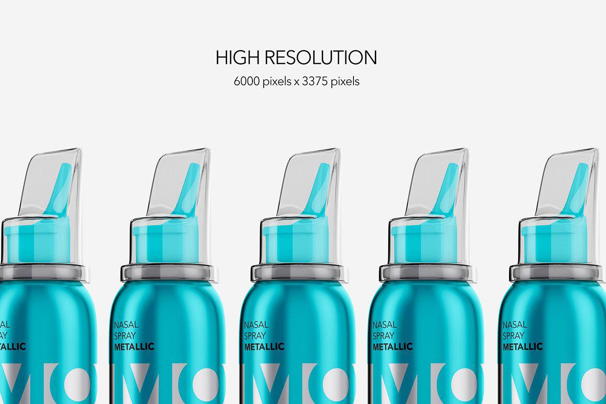 Nasal Spray Metallic Bottle Mockup 4809990.
