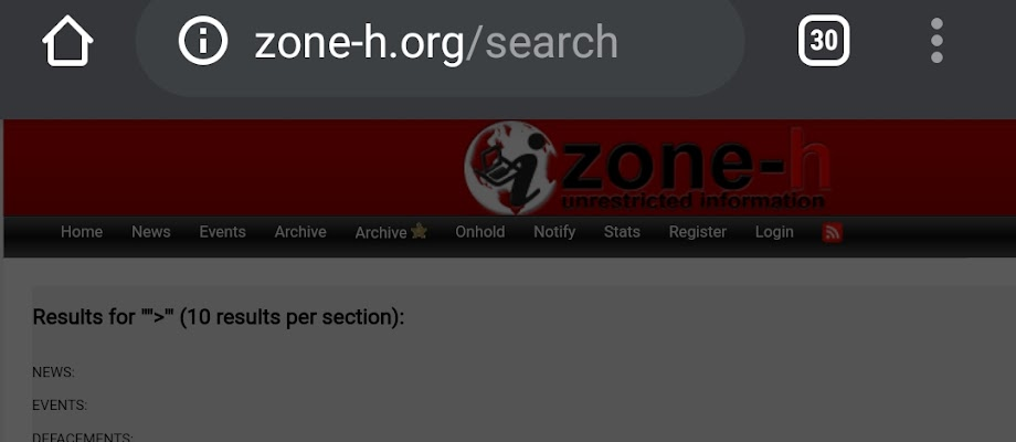 Bug Xss (Zone-h.org)