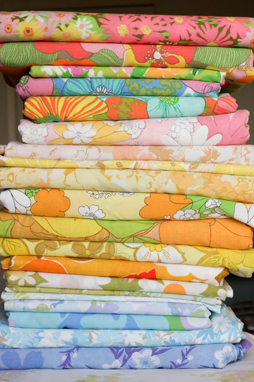 How To Identify, Shop For And Sew With Vintage Sheets   In Color Order