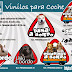 Pegatinas mascota a bordo personalizadas