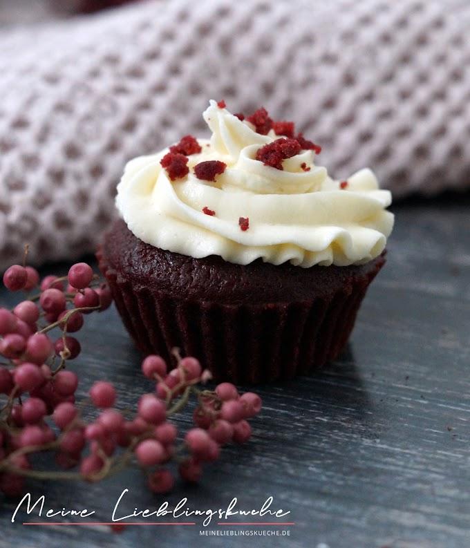 Vegane Red Velvet Cupcakes ohne Lebensmittelfarbe