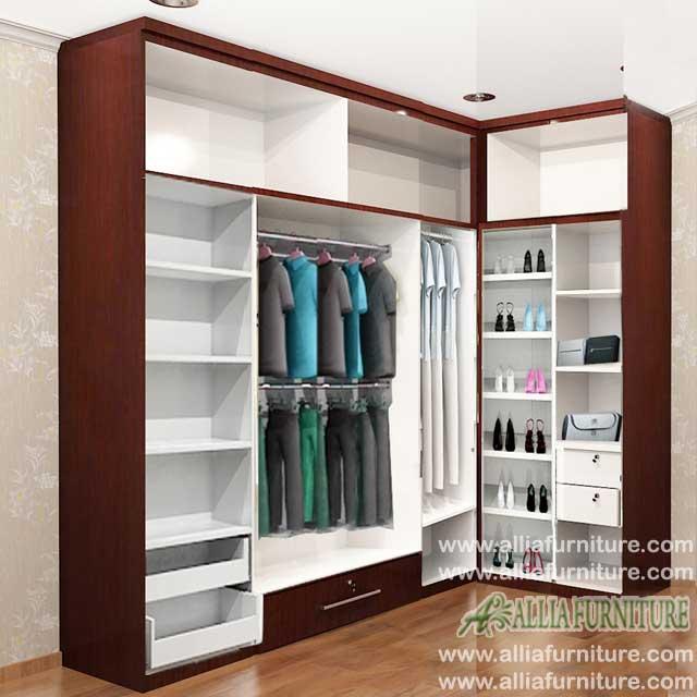 lemari pakaian minimalis sudut hippo