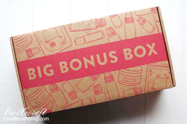 The Monthly box is tucked in the Big Bonus Box, so it arrives as one fabulous package. It's so cute too! They pay attention to detail and make everything so perfectly packaged! Everything has a home!