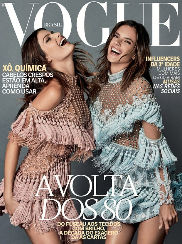 Alessandra Ambrosio and Isabeli Fontana wear Balmain for Vogue Brazil