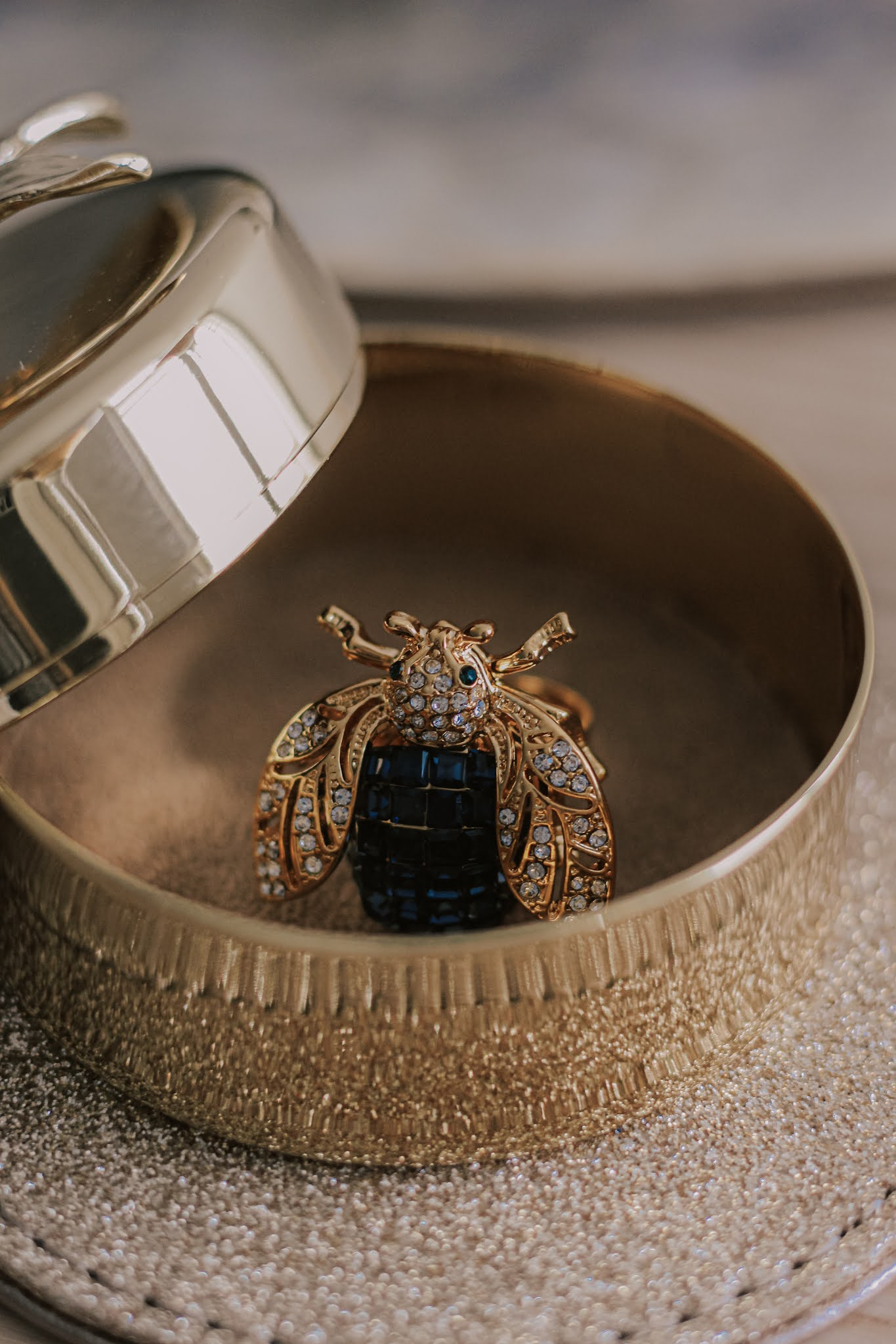 Joanna Buchanan Sparkle Bee Gold Blue Ring