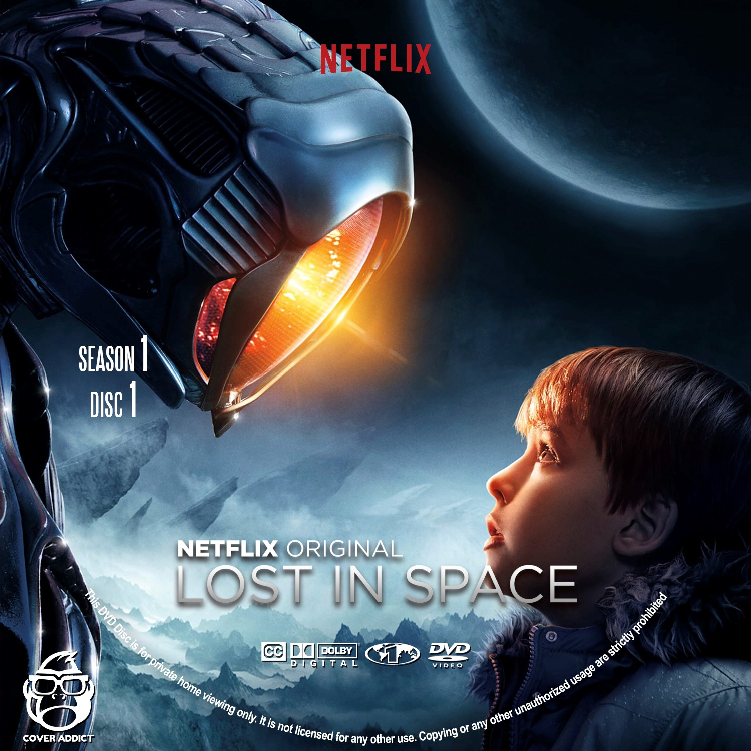 Lost In Space Season 1 Disc 1-4 DVD Label