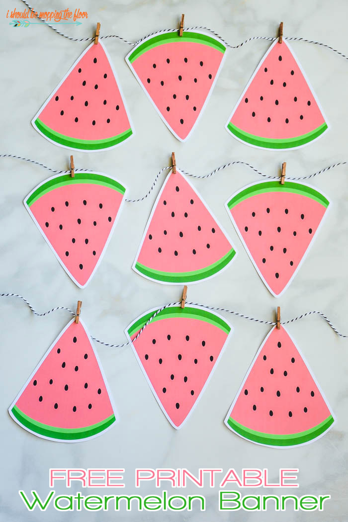 Free Printable Watermelon Banner