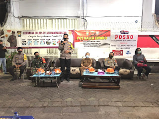 Kapolres Pelabuhan Makassar Edukasi Masyarakat Disiplin Protokol Kesehatan