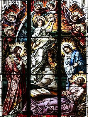 Imagem da morte de São José, vitral, #1