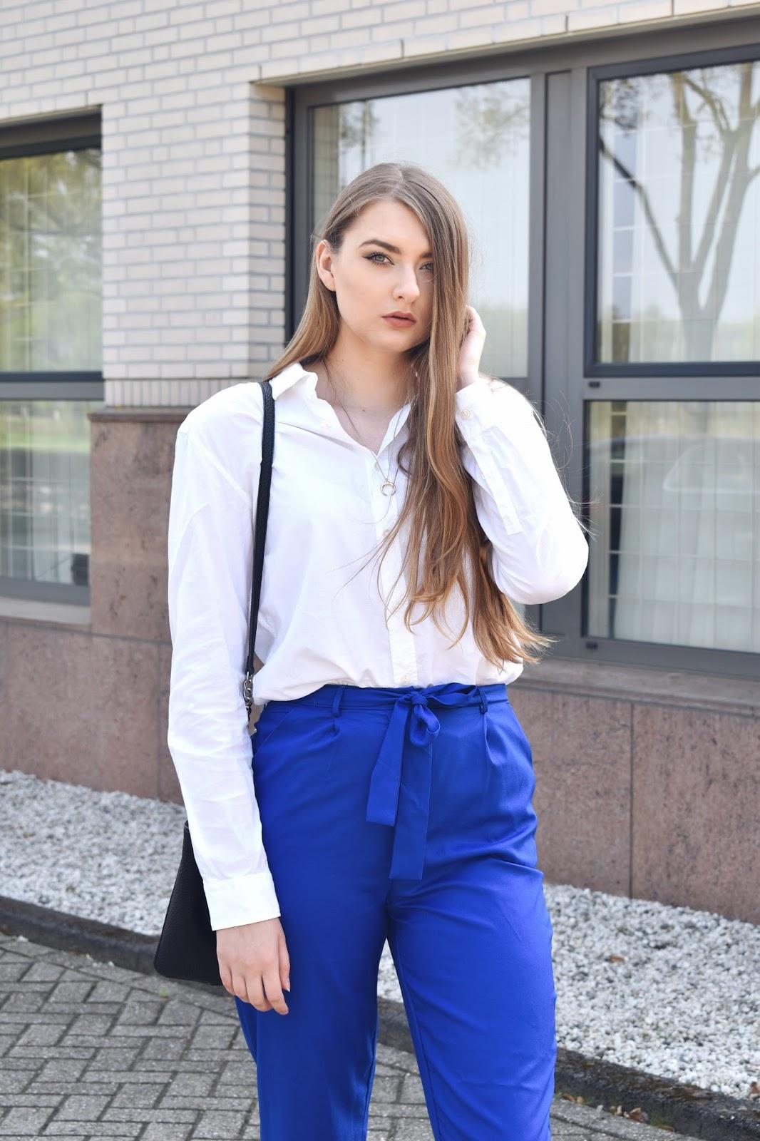 męska koszula w damskiej stylizacji