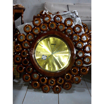 Jam Dinding Kayu Jati | Souvenir Jam Dinding Jepara