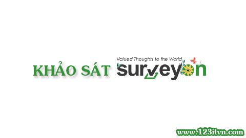 Trả lời khảo sát và kiếm tiền từ surveyon.com