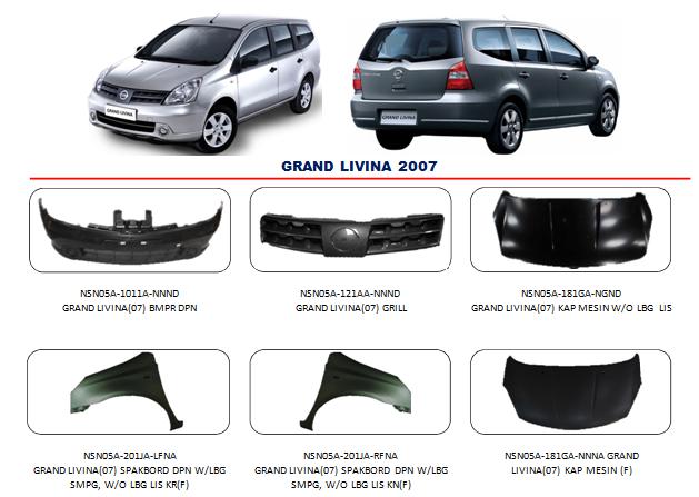 Bemper Nissan Grand Livina 2007