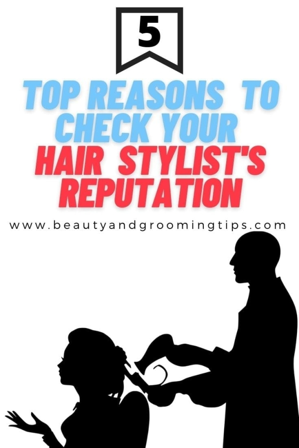 reasons to check your hair stylist's reputation - hair stylist doing a girl's hair silhoutte