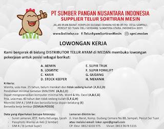 Loker 8 Posisi di PT Sumber Pangan Nusantara Indonesia