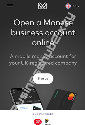 Open an online bank account with Monese