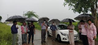 कलेक्टर श्री अग्रवाल ने नीमच, पालसोडा में लिया जलभराव की स्थिति की जायजा