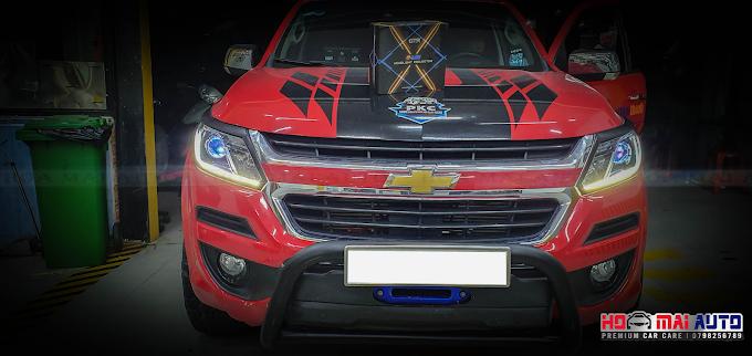 NÂNG CẤP ÁNH SÁNG CHO COLORAADO VỚI BI LED GTR GLED-X TẠI HOA MAI AUTO