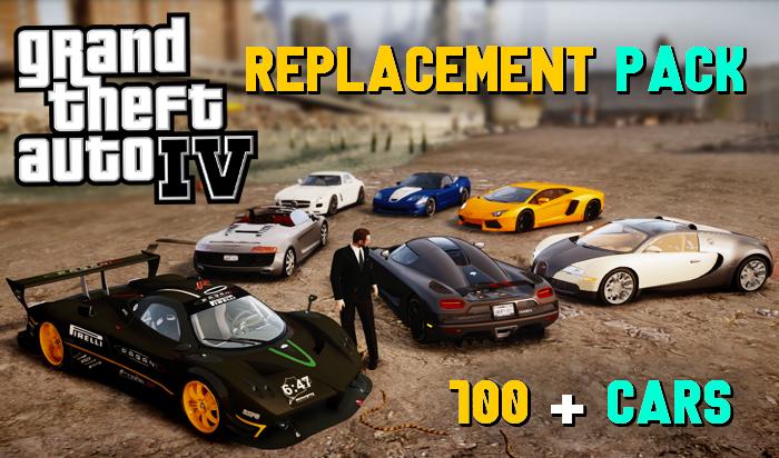 GTA 4 - All New 2021 Best Car Replace Pack   100 + Cars GTA IV Mod