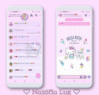 Hello Kitty Fofo Theme For YOWhatsApp & Aero WhatsApp By Natalia Luz