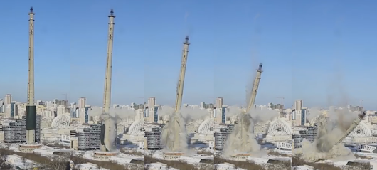 The Leaning Tower of Yekaterinburg Leans No More: World's Tallest Abandoned Structure is Demolished