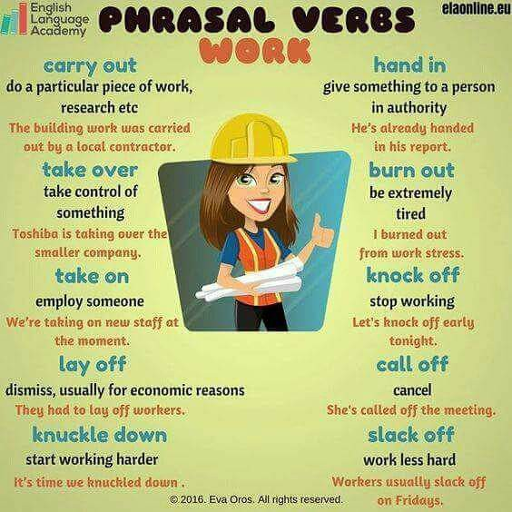 Learn Phrasal Verbs for Work