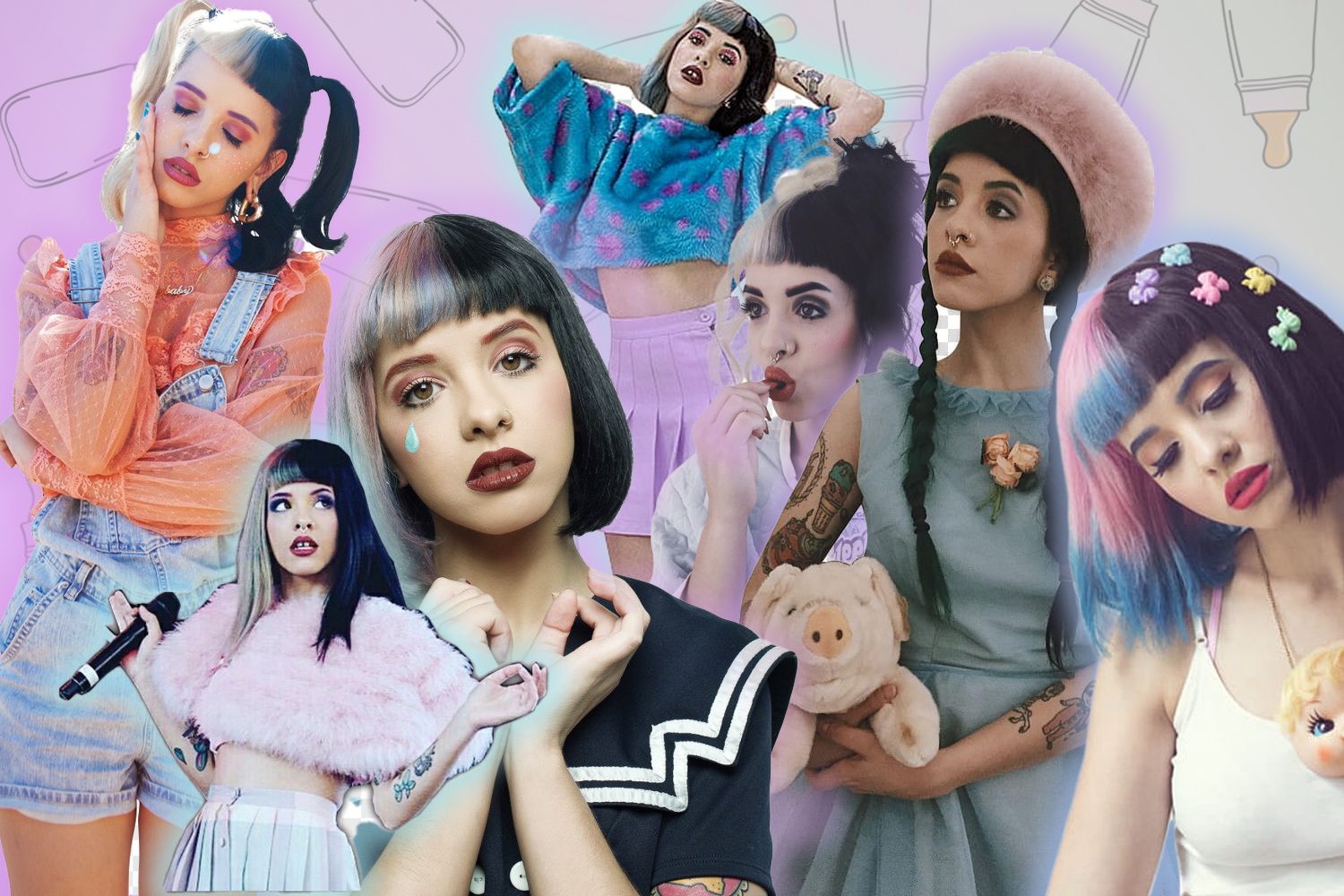 picture collage with Melanie Martinez