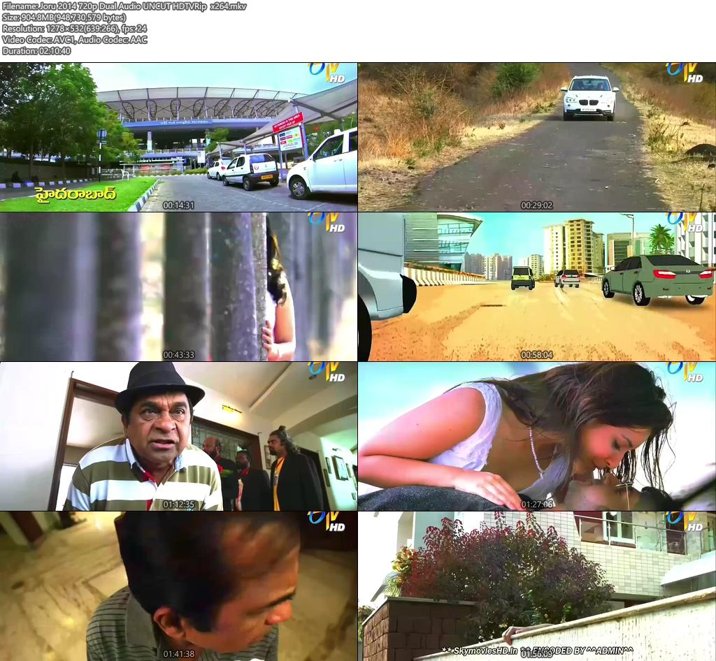 Joru 2014 720p Dual Audio UNCUT HDTVRip x264 | 480p 300MB | 100MB HEVC Screenshot