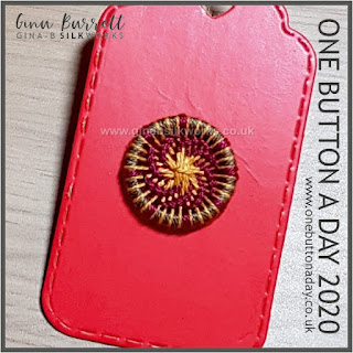 Day 281 : Eruption - One Button a Day 2020 by Gina Barrett