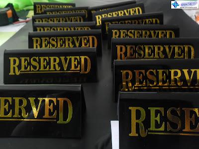 Acrylic Reserved Signs - Teppan Okochi