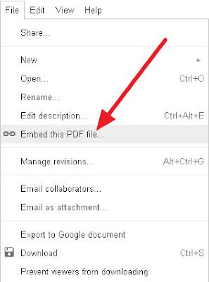 Cum incorporezi (embed) un document PDF, WORD, XLS in postarile din Blogger?