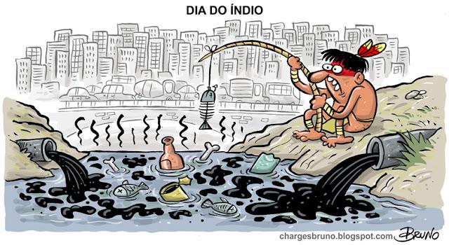 Resultado de imagem para charges índios