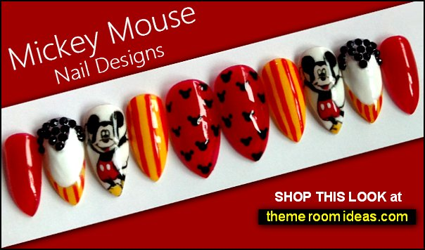 Disneys Mickey Mouse press on nails Mickey Mouse nails
