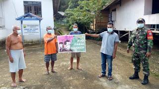 Babinsa Melaksanakan Sosialisasi Covid-19 Kepada Warga di Wilyah Binaan