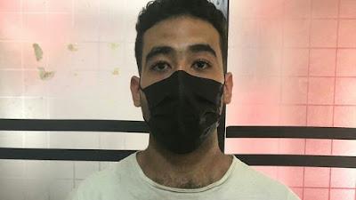 Personel Pospam Polres Simalungun Amankan WNA Asal Mesir Bawa 63 Gram Ganja