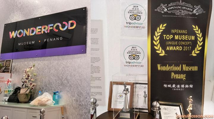 Anugerah tourism untuk Galeri Wonderfood Museum Penang