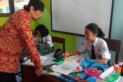 Hebat, guru SMPN 17 Semarang ini inspirasi siswa aktif lomba kartun internasional
